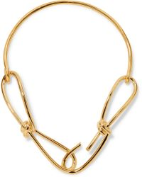Annelise Michelson - Wire Gold-plated Necklace - Lyst