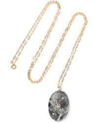 Cvc Stones | Smokey 18-karat Gold, Stone And Diamond Necklace | Lyst