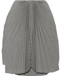 Facetasm - Pleated Gingham Wool Skirt - Lyst