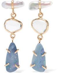 Melissa Joy Manning - 14-karat Gold And Sterling Silver Multi-stone Earrings - Lyst