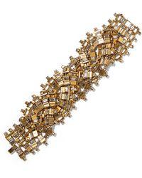 Erickson Beamon   River Song Gold-plated Crystal Bracelet   Lyst