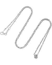 Anita Ko - 18-karat White Gold Diamond Necklace White Gold One Size - Lyst