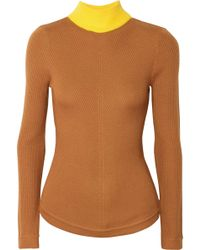Emilia Wickstead - Harry Ribbed Wool Turtleneck Sweater - Lyst