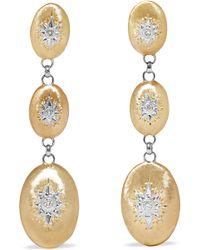 Buccellati - Macri Ohrringe Aus 18 Karat Gelb- Und Weißgold Mit Diamanten - Lyst
