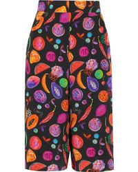 Matthew Williamson - We Liming Printed Silk Crepe De Chine Culottes - Lyst