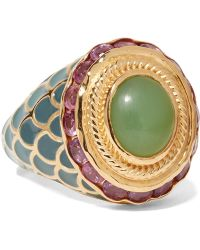 Percossi Papi - Gold, Chrysoprase And Ruby Ring - Lyst