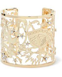 Etro - Gold-tone Crystal Cuff - Lyst