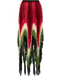 Gucci - Plissé-silk Midi Skirt - Lyst