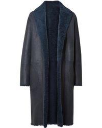 Akris - Trace Reversible Shearling Coat - Lyst