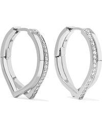 Repossi - Antifer 18-karat White Gold Diamond Earrings - Lyst