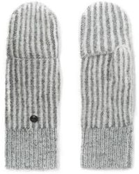 Rag & Bone Jonie Striped Ribbed-knit Mittens