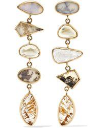 Melissa Joy Manning - 14-karat Gold, Sterling Silver And Multi-stone Earrings - Lyst
