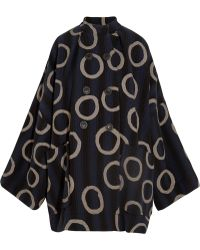 Vivienne Westwood Anglomania - Joan Printed Cotton-blend Coat - Lyst