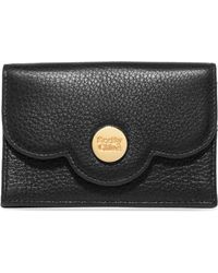 See By Chloé - Polina Scalloped Textured-leather Cardholder - Lyst