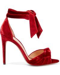 Alexandre Birman - Jessica Bow-embellished Velvet Sandals - Lyst
