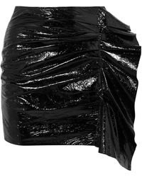 Isabel Marant - Fresly Ruffled Patent Textured-leather Mini Skirt - Lyst