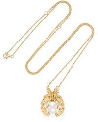Yvonne Léon | 18-karat Gold Multi-stone Necklace | Lyst