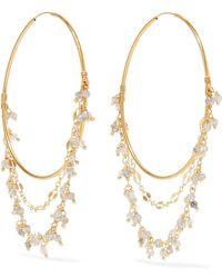 Chan Luu - Mystic Gold-tone Crystal Hoop Earrings - Lyst
