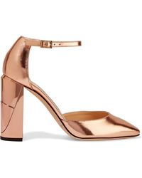 Jimmy Choo - Mabel Mirrored-leather Court Shoes - Lyst