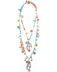 Rosantica - Vento Gold-tone Beaded Necklace - Lyst