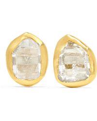 Pippa Small - 18-karat Gold Herkimer Diamond Earrings - Lyst