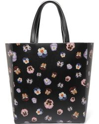 Christopher Kane - Daley Floral-print Textured-leather Tote - Lyst