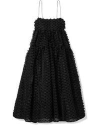 Cecile Bahnsen - Sofie Tie-back Fil Coupé Silk Midi Dress - Lyst