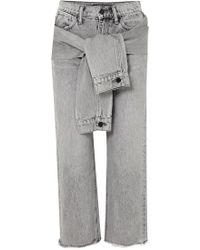 Alexander Wang - Self Tie Cropped Straight Leg Jeans - Lyst