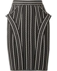 Hervé Léger - Striped Bandage Mini Skirt - Lyst