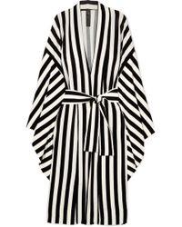 Norma Kamali - Striped Stretch-jersey Robe - Lyst