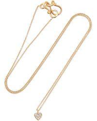 Sophie Bille Brahe - Coeur 18-karat Gold Diamond Necklace - Lyst