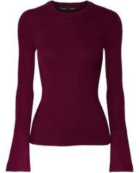 Proenza Schouler - Ribbed Silk-blend Sweater - Lyst