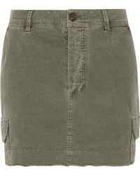 James Perse - Stretch-cotton Mini Skirt - Lyst
