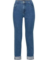J Brand - Johnny Distressed Boyfriend Jeans - Lyst