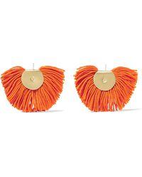 Katerina Makriyianni - Fan Gold-tone Wool-blend Earrings - Lyst