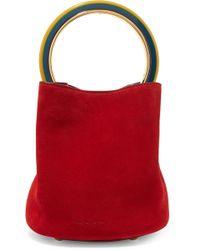 Marni - Pannier Small Suede Bucket Bag - Lyst
