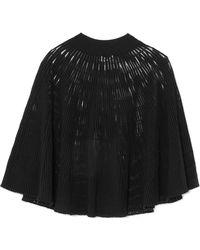 Sonia Rykiel   Cape-effect Ribbed Wool-blend Top   Lyst