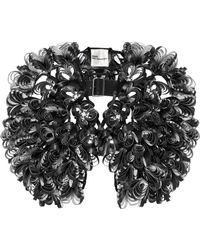 Noir Kei Ninomiya - Floral Faux Leather Harness - Lyst