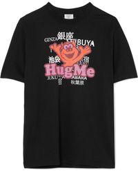 Vetements - Printed Cotton-jersey T-shirt - Lyst