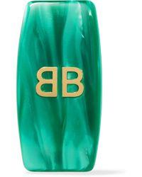 Balenciaga - Gold-tone Resin Clip Earring - Lyst