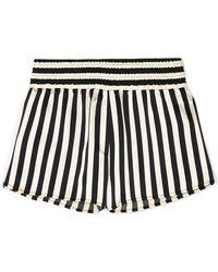 Morgan Lane - + Amanda Fatherazi Corey Striped Silk-charmeuse Pajama Shorts - Lyst