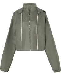 Rick Owens - Cropped Hooded Shell Jacket - Lyst