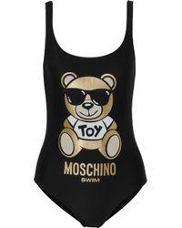 Moschino - Metallic Printed Swimsuit - Lyst