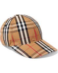 Burberry - Checked Cotton-canvas Baseball Cap - Lyst