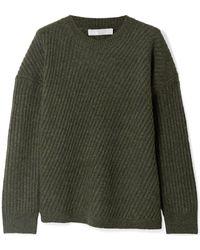Vince - Asymmetric Ribbed Wool-blend Jumper - Lyst