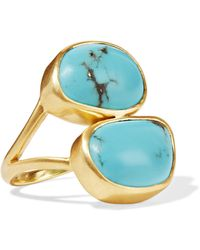 Pippa Small - 18-karat Gold Turquoise Ring Gold M - Lyst