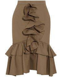 TOME - Mermaid Ruffled Cotton-poplin Skirt - Lyst