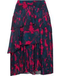 Jason Wu - Floral-print Pleated Chiffon Skirt - Lyst