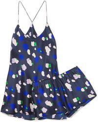 Olivia Von Halle - Bella Maiko Dot-print Short Pajama Set - Lyst
