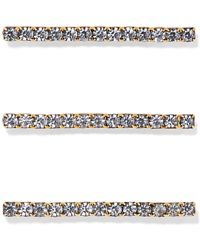 Jennifer Behr - Fete Set Of Three Gold-tone Crystal Hair Pins Gold One Size - Lyst